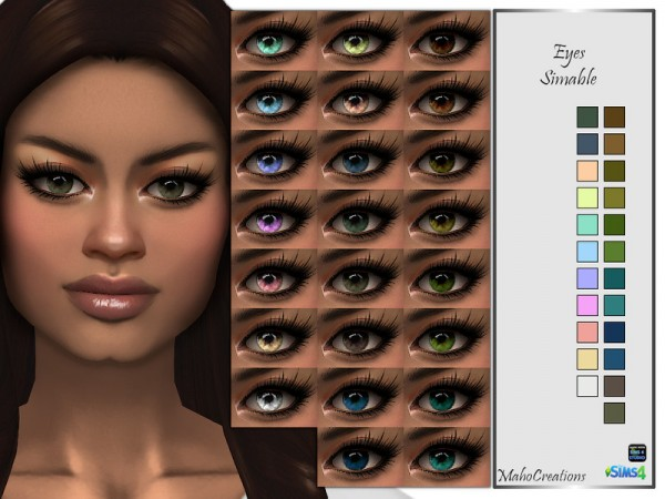The Sims Resource: Eyes Simable by MahoCreations
