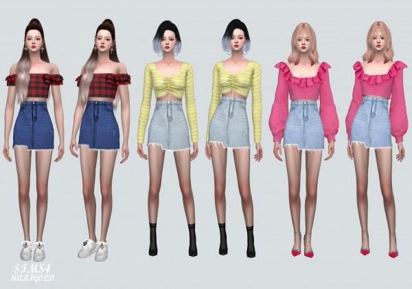 SIMS4 Marigold: V Denim Skirt