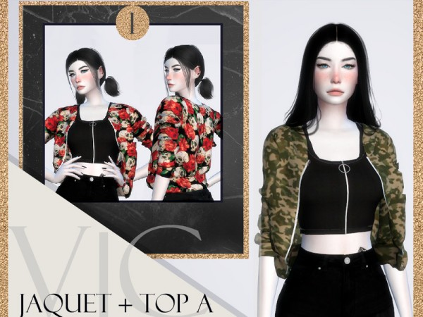 The Sims Resource: Jacket and Top AI by Viy Sims