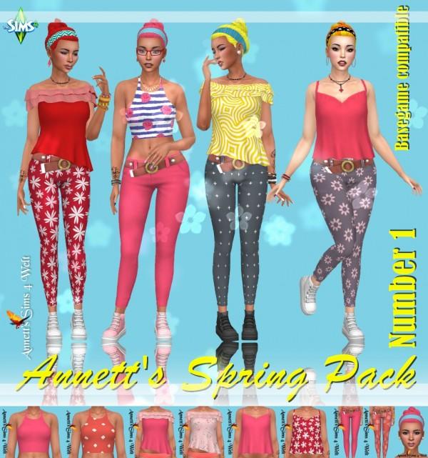 Annett`s Sims 4 Welt: Annetts Spring Pack   Number 1