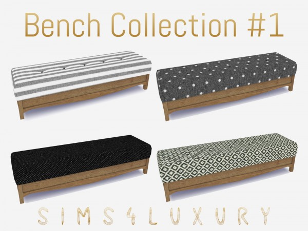 Sims4Luxury: Bench Collection 1