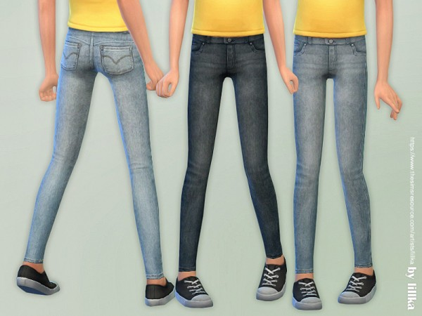 The Sims Resource: Skinny Jeans for Girls 07 by lillka