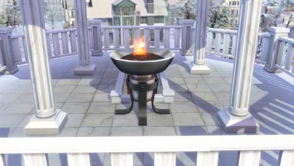 Mod The Sims: Shorter Braziers by Teknikah