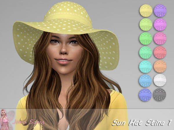 The Sims Resource: Sun Hat Stina 1 by Jaru Sims