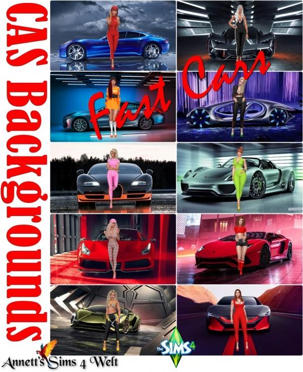 Annett`s Sims 4 Welt: CAS Backgrounds   Fast Cars