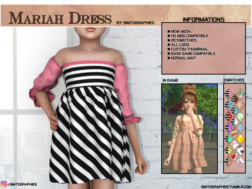 Simtographies: Mariah Dress
