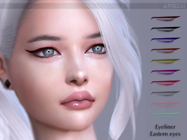The Sims Resource: Eyeliner Eastern eyes by ANGISSI