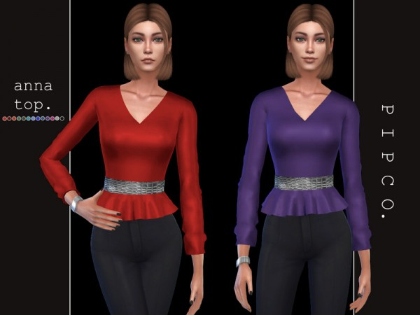 The Sims Resource: Anna top by Pipco