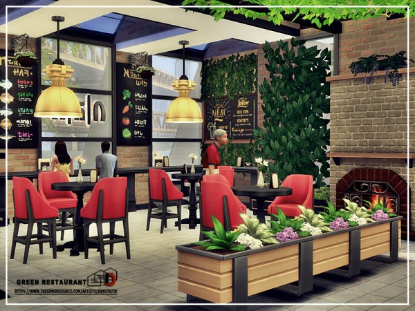 The Sims Resource: Green Restaurant by Danuta720