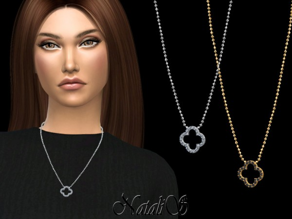 The Sims Resource: Open clover pendant by NataliS