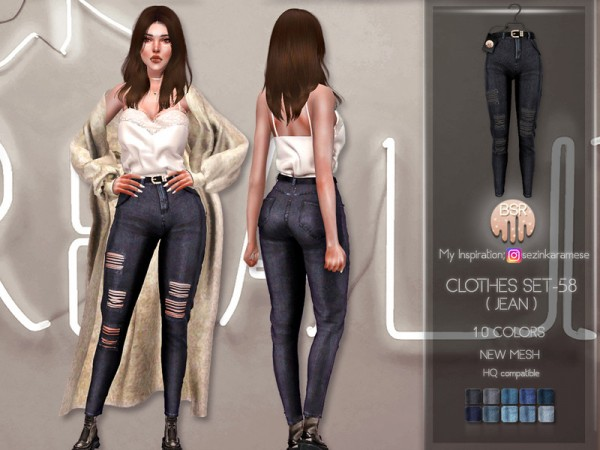 The Sims Resource: Clothes SET 58 Jeans by busra tr