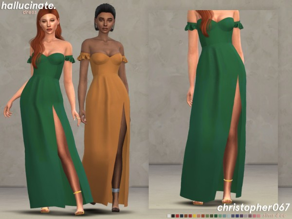 The Sims Resource: Hallucinate Dress by Christopher067