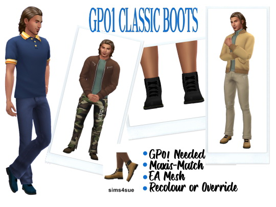 Sims 4 Sue: Classic Boots