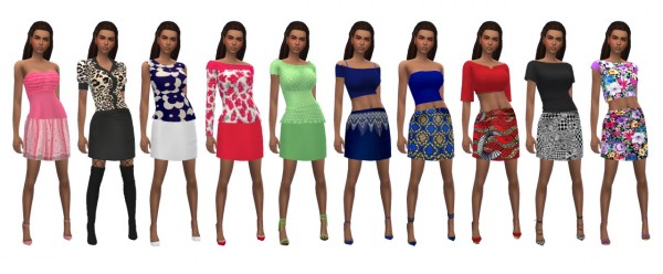 Sims 4 Sue: Party Mini Skirt