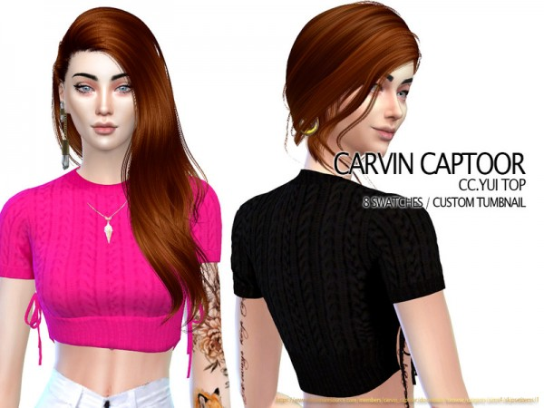 The Sims Resource: Yui Top by carvin captoor