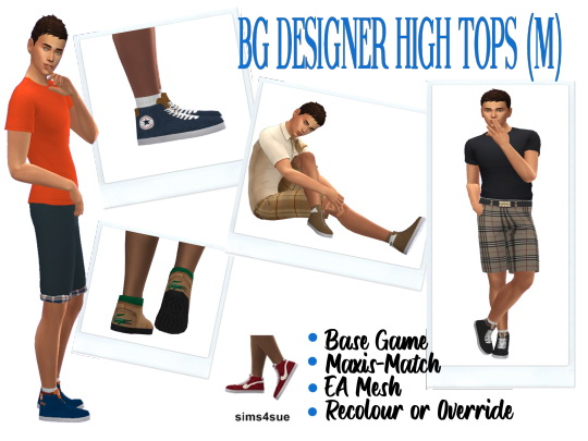 Sims 4 Sue: Designer High Tops