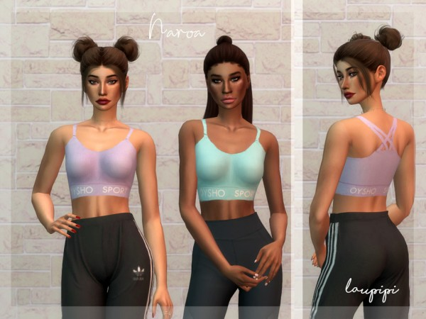 The Sims Resource: Naroa Top by Laupipi