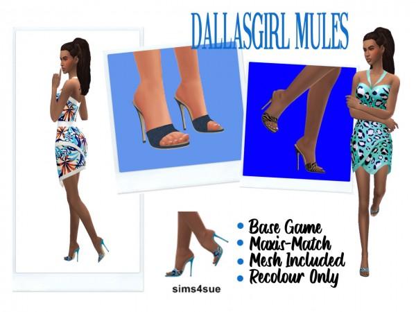 Sims 4 Sue: Dallasgirl`s Mules