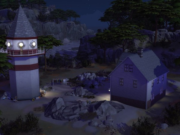 KyriaTs Sims 4 World: The lighthouse keepers house