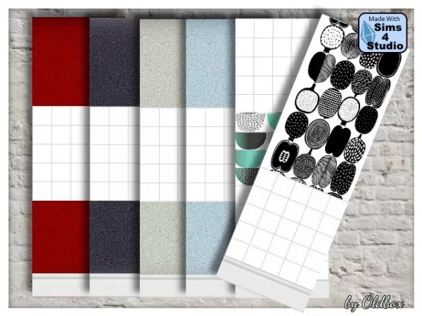 All4Sims: Walls for the kitchen and / or bathroom by Oldbox