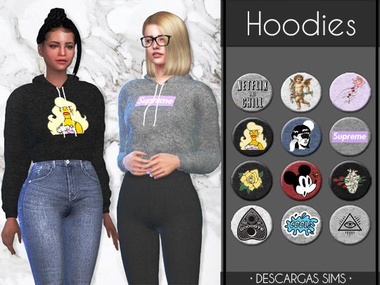 Descargas Sims: Hoodies