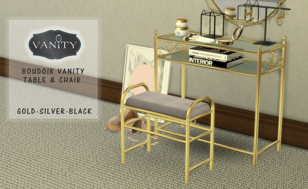 Leo 4 Sims: Boudoir Vanity Table and Chair