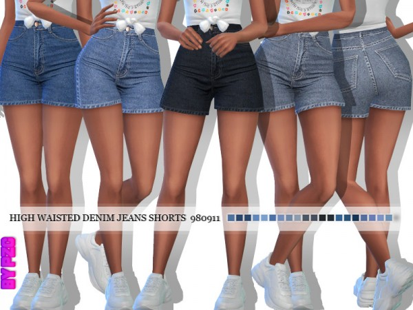 The Sims Resource: Denim Jeans Shorts 980911 by Pinkzombiecupcakes