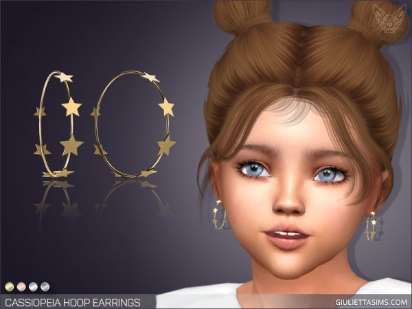 Giulietta Sims: Cassiopeia Hoop Earrings For Toddlers