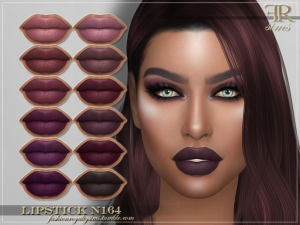 The Sims Resource: Lipstick N164 by FashionRoyaltySims