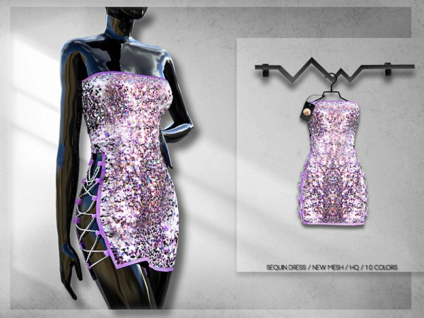The Sims Resource: Sequin Dress BD247 by busra tr