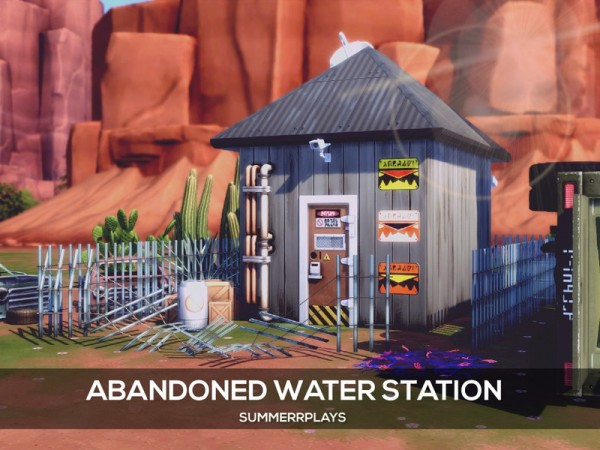 The Sims Resource: Apocalypse   Abandoned Water Station by Summerr Plays