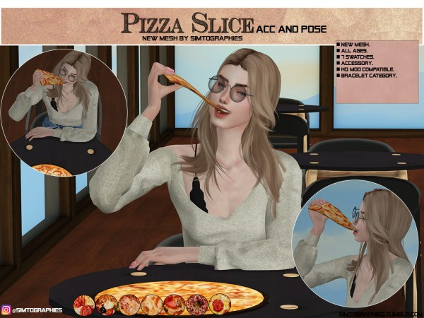 Simtographies: Pizza Slice Acc and Poses