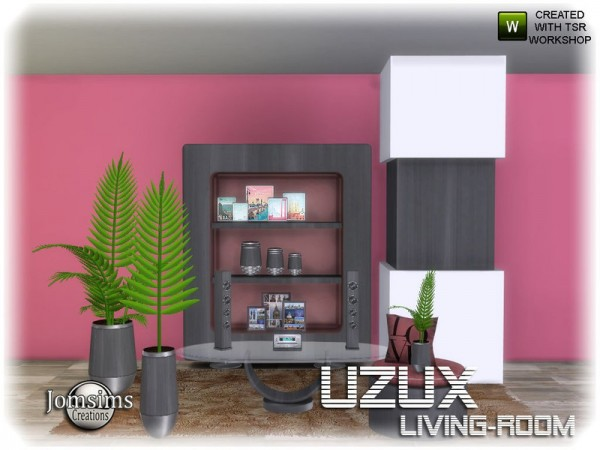 The Sims Resource: Uzux living room 1 2 by jomsims