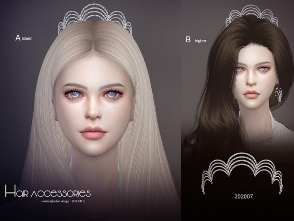 The Sims Resource: Hair Accessories 202007 by S Club
