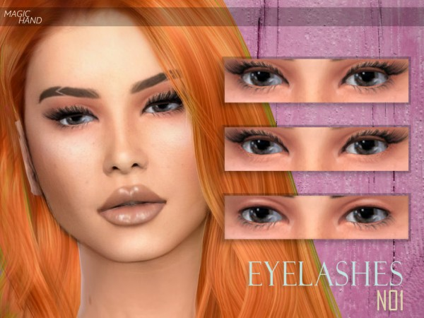 The Sims Resource: Eyelashes N01 by MagicHand