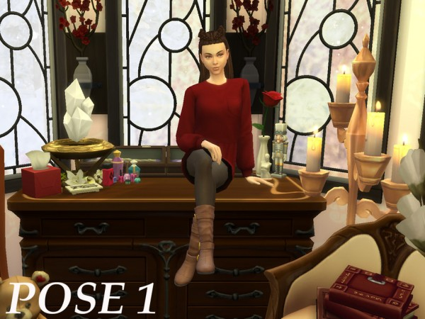 The Sims Resource: Dresser Seating Posepack by Zahdernia