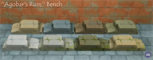 Mod The Sims: Agobars Ruin Bench   for Get Together by Lulu The Cute Sim