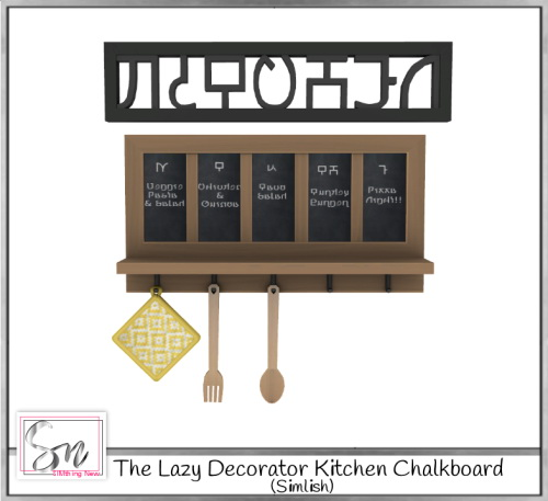 Simthing New: The lazy decoration kitchen chalkboard