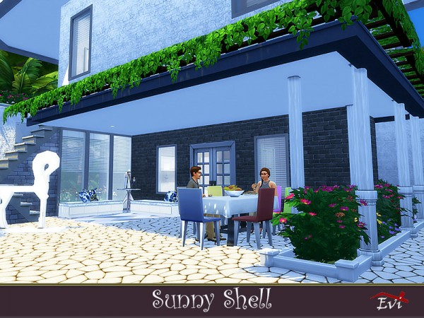 The Sims Resource: Sunny Shell House by Evi