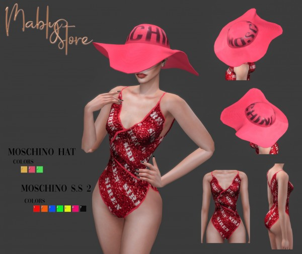 Mably Store: Hat and Swimsuit