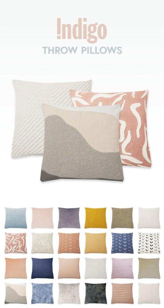 Simplistic: Indigo Throw Pillows
