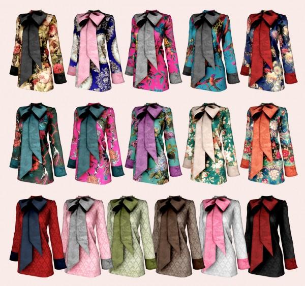 Rimings: Big Ribbon Velvet Dress