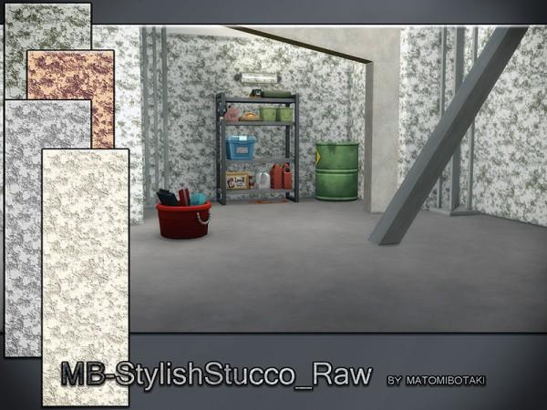 The Sims Models: Stylish Stucco Raw Walls by matomibotaki