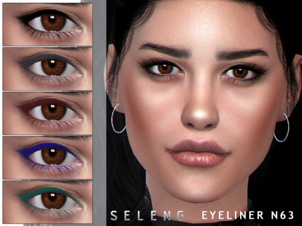 The Sims Resource: Eyeliner N63 by Seleng