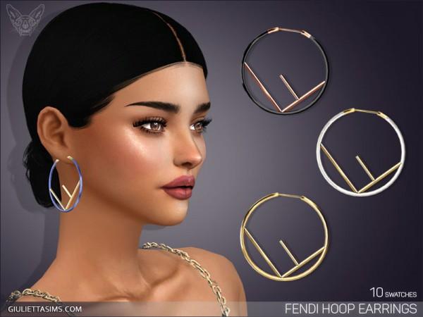 Giulietta Sims: Designer Hoop Earrings