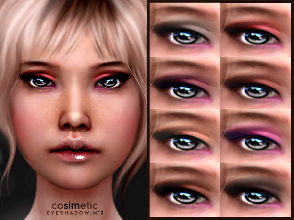 The Sims Resource: Eyeshadow N3 by cosimetic