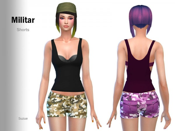 The Sims Resource: Militar Shorts by Suzue
