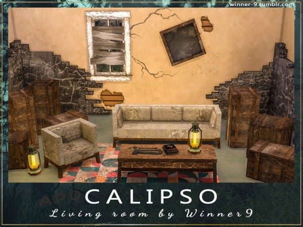 The Sims Resource: Calipso Living Room by Winner9