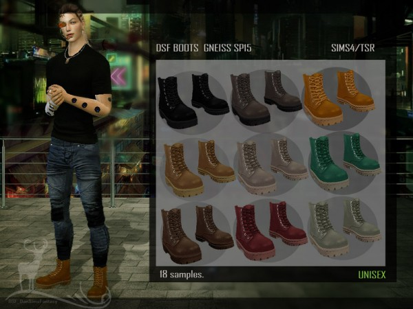 The Sims Resource: Boots Gneiss by DanSimsFantasy