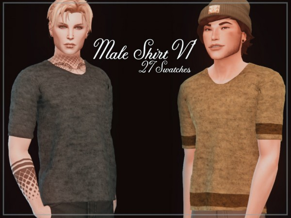 The Sims Resource: Male Shirt V1 by Reevaly